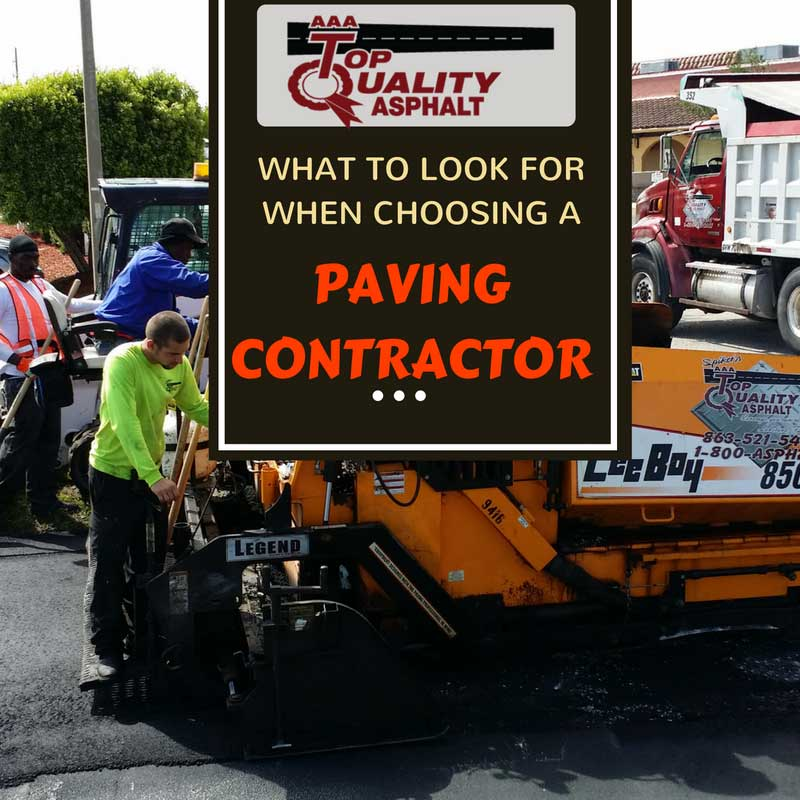 What to Look for When Choosing a Paving Contractor